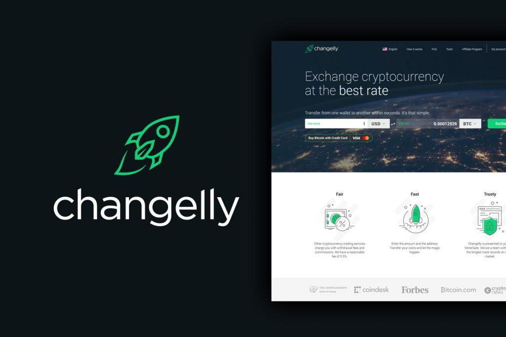 Strona domowa www.changelly.com