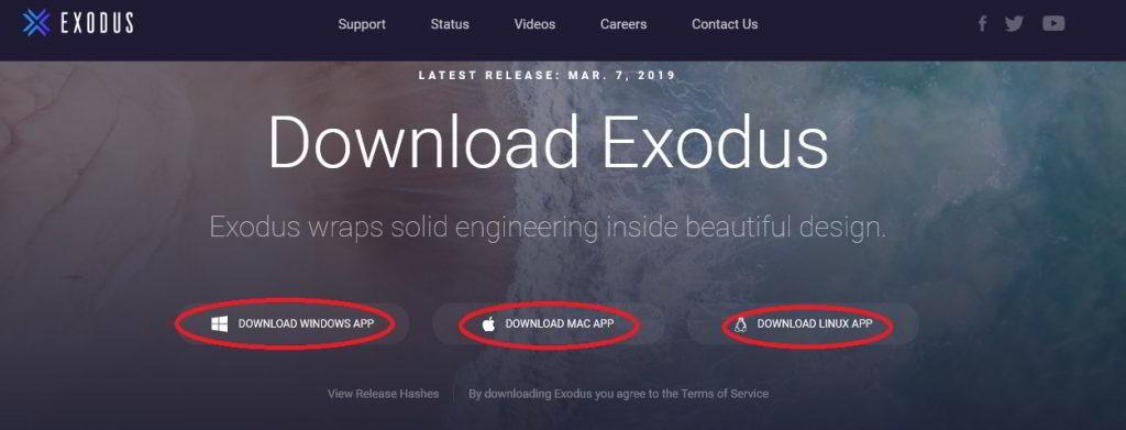 Exodus instalacja portfela kryptowalut