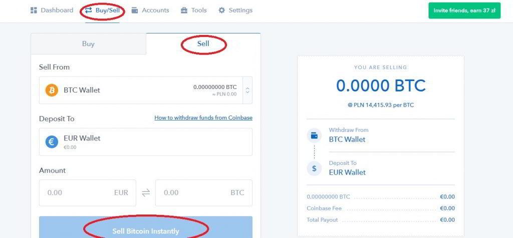 Jak sprzedać Bitcoin na Coinbase