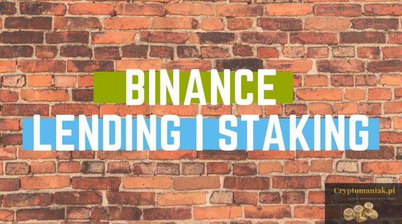 Binance lending i staking