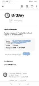 PIN z BitBay