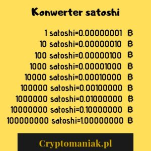 Konwerter satoshi