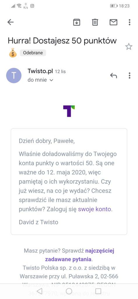 Poprawna weryfikacja w Twisto