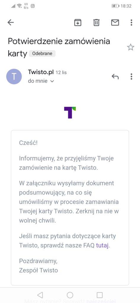 Zamawianie karty Twisto
